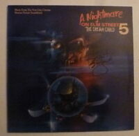 "Robert Englund Signed Nightmare on Elm Street 5 12"" Album Cover Vinyl AFTAL"