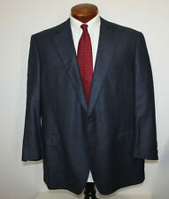 Samuelsohn Silk And Wool Blazer or Sport Coat Blue Weave 2 Button Canada 46 R