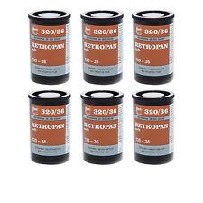 6 Rolls x FOMA Retropan soft 320 36exp Black and White Film 135-36 35mm 320/36
