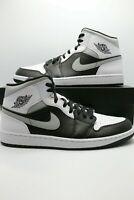 "Air Jordan 1 Mid ""White Shadow"" 554724-073 Black & White Light Smoke Grey IT"