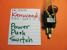 KENWOOD S40-2037-05 POWER PUSH SWITCH KR-3400 STEREO RECEIVER