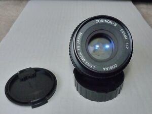 COSINON-S COSINA 1:2/50mm für Pentax K PK Bajonett Filtergewinde 49mm, gut.
