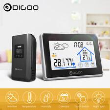 Digoo Touch Screen Funk Wetterstation Außensensor Thermometer Hygrometer Wecker