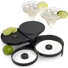 Glass Rimmers Black for Adding Cocktail Salt to Margarita Glasses, Citrus Rimmer