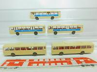 BO795-0,5# 5x Wiking H0/1:87 700 Bus/Omnibus MB O 305: Allianz etc, sehr gut