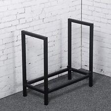 Firewood Rack Log Rack 61cm Indoor/Outdoor Fire Wood Storage Black Iron