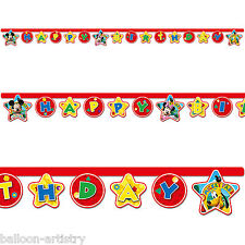 Disney Mickey Mouse Playful Clubhouse Happy Birthday Party Cutout Banner