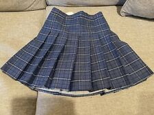 Bibid uo Kid Girls Pleated Blue Plaid Skirt Size 14 /16