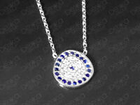 925 Sterling Silver Cubic Zirconia Evil Eye Greek Mati Turkish Nazar Necklace