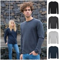 Eco Regenerated Cotton Fine Knit Sweater Jumper Long Sleeve Top Sustainable