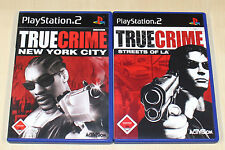 2 PlayStation 2 juegos bundle-True Crime-Streets of los angeles & New York City
