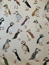 Prestigous Fabric Puffin DriftwoodPrint Upholstery Fabric 100% Cotton 140cm Wide