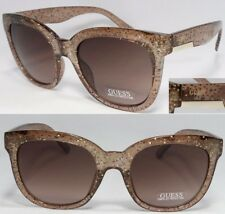 New GUESS GF0299 BROWN 45F Light Brown/Purple Womens Sunglasses
