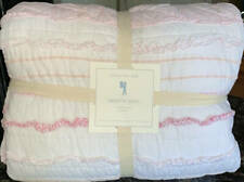 New~Pottery Barn Brigette Ruffle F/Q Quilt Pink