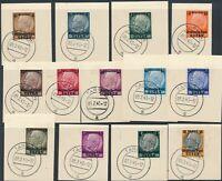 Stamp Germany Poland General Gov't Mi 001-13 Sc N17-29 1939 WWII Osten CTO 3