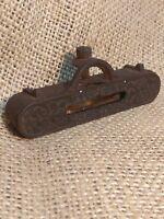 Antique 1800's Stanley Pocket Line Level for Square Rule cast metal distress H-3