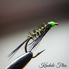 Hothead Green / Silver Holo Diawl Bach size 14 (Set of 3) Fly Fishing Straight
