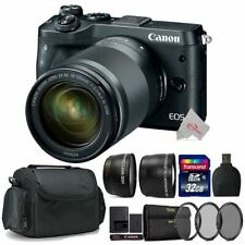 Canon EOS M6 Mirrorless Camera Black with 18-150mm Lens Top Accessory Kit