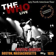 THE WHO LIVE AT THE BOSTON GARDEN IN BOSTON  DECEMBER 3rd 1973  LTD 2 CD