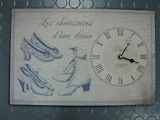Uhr aus Blech mit Schuhe 38 cm mal 25 cm 2 kg schwer