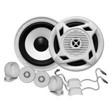 MARINE GRADE SPEAKER SET DUAL-LAYER POLY-INJECTED RUBBER-COATED CONES MC5