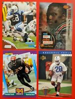 Marshall Faulk 1994 & 1998 Lot of 4 includes 3 Rookie Cards Excellent Condition