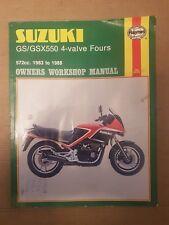 Suzuki GS  GSX550 4-valve Fours Haynes Manual 1983 to 1988   572cc  E ES EF L