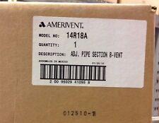 "~Discount HVAC~ 14R18A - Ameri-Vent Adjustable Pipe Section B-Vent 14 X 18"""