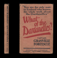 1915 Capt. Fortescue WHAT OF THE DARDANELLES? AN ANALYSIS Blunder TURKEY Balkans