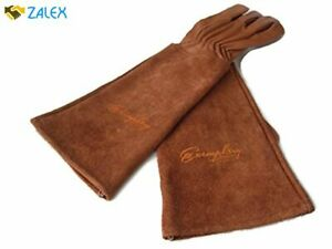 Rose Pruning Gloves for Men and Women. Thorn Proof Goatskin Leather Gardening Gl