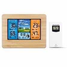 LCD Wireless Weather Station Indoor Outdoor USB Digital Forecast Alarm Clock