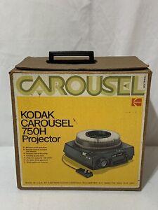 Kodak Carousel 750H Slide Projector W/ Remote Original Box Extra Bulb Tested (4C