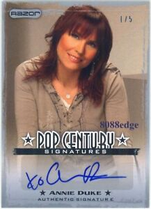 2010 RAZOR POP CENTURY AUTOGRAPH AUTO: ANNIE DUKE #1/5 WORLD SERIES OF POKER