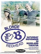 BLONDE REDHEAD 2012 PORTLAND CONCERT TOUR POSTER - Alternative & Indie Rock