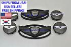 2011-2016 For Hyundai Genesis Coupe Matte Black Wing Emblem Wheel Caps