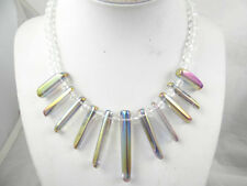 Beautiful Titanium Crystal  Ladies Handmade Gemstone Jewellery Necklace T8