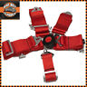 RED 5 Point Racing Harness Quick Release Latch Clip Fitting + Eye Bolts