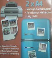 2 papier photos brillantes magnétique A4