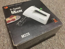 Black & Decker M22S 6 Speed Hand Mixer with Beaters- New In Sealed Box Whip Mix