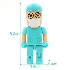 Suntrsi USB Flash Drive Fun Character Cute Doctor Nurse Memory Stick USB 4GB