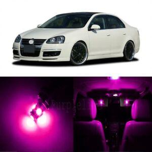 11 x Pink LED Interior Light For 2005 - 2010 Volkswagen VW Jetta MK5 + TOOL