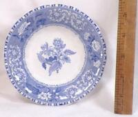Copeland Spode Camilla Fruit Dessert Bowl Plate Blue Transferware Old Backstamp