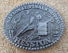 Rare 1989 Hesston NFR Barrel Racer Buckle