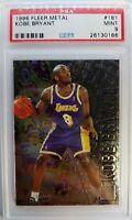1996 96-97 Fleer Metal Kobe Bryant ROOKIE RC #181, Graded PSA 9 Mint, Lakers HOF