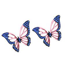 Butterflies Black Blue and Light Pink Women Earrings