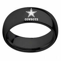 Dallas Cowboys Football Men Ring Titanium Stainless Steel Black 6 7 8 9 10 12 13