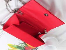 Bag Satin Clutch Evening Handbag Purse Bridal Prom Wedding Women Party Crystal