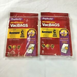 Rug Doctor Kenmore C Vacuum Bag, Lot of 2 Replacement Cleaner Bags 4 Total Bags