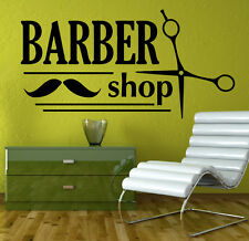 Barber Shop Wall Decal Hair Salon Vinyl Sticker Beauty Salon Wall Decor (16sh)