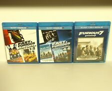 The Fast and the Furious 1 2 3 4 5 6 7 (Blu-ray Disc, Canadian) mint REGION A